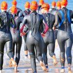 Triathlon open-water swim start