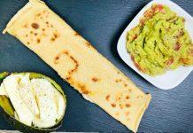 Spelt-Wraps with Avocado dip