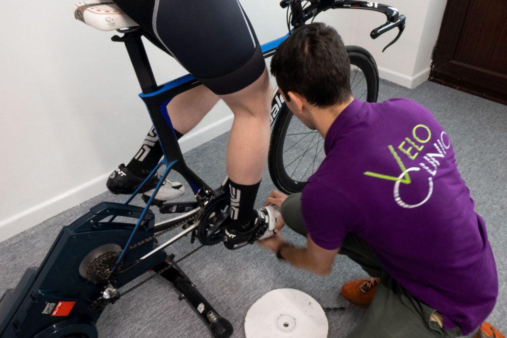 Triathlon bike fitting cleat position