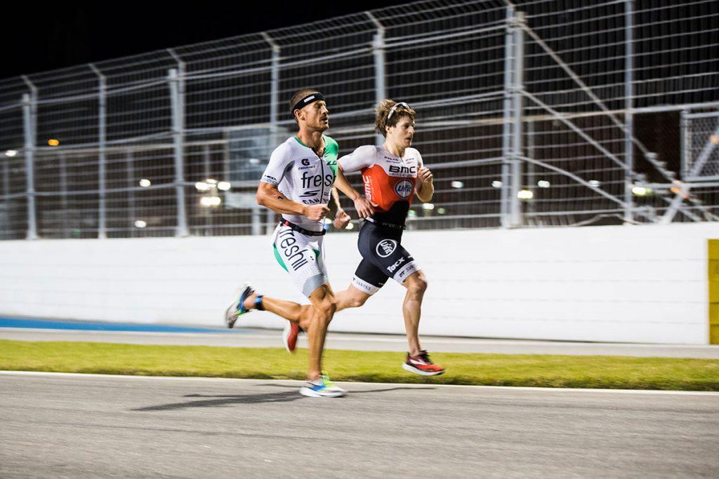 Lionel Sanders and Pablo Gonzalez Dapena at Challenge Daytona 2019