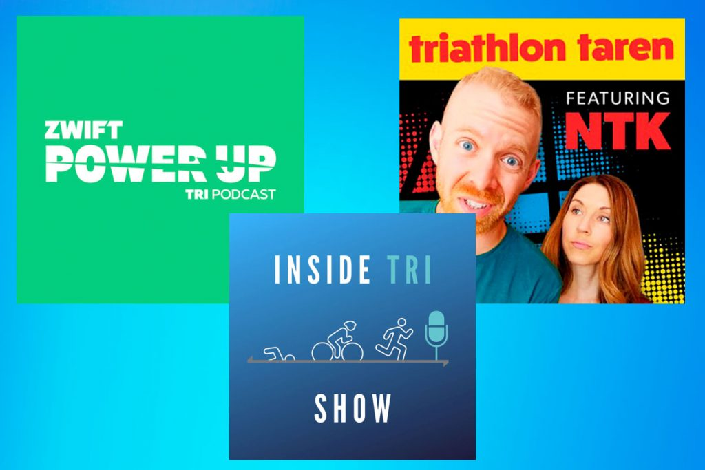 Zwift Power Up Tri Podcast, Triathlon Taren and Inside Tri Show