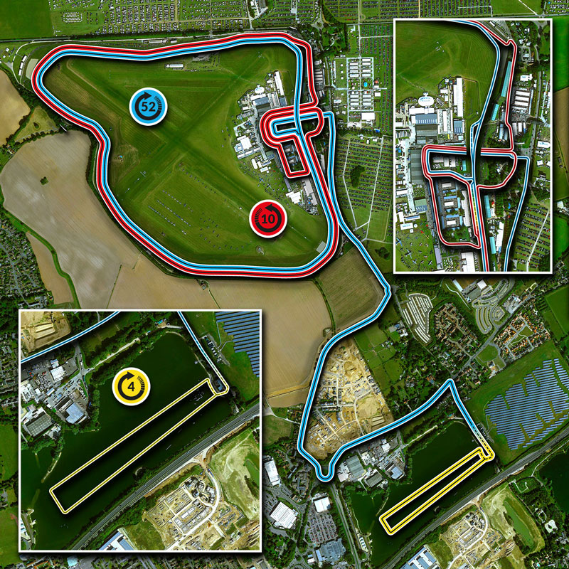 255 Triathlon Course Map
