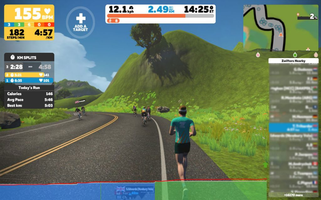 Using Runn In Zwift