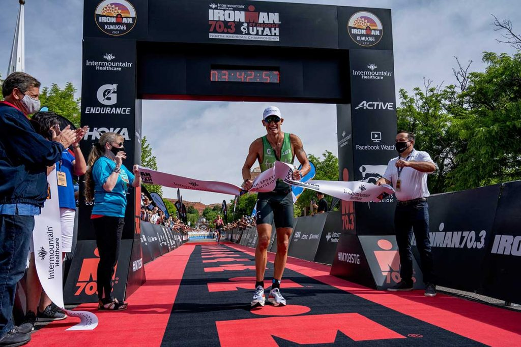 Lionel Sanders Ironman 70.3 St. George 2021