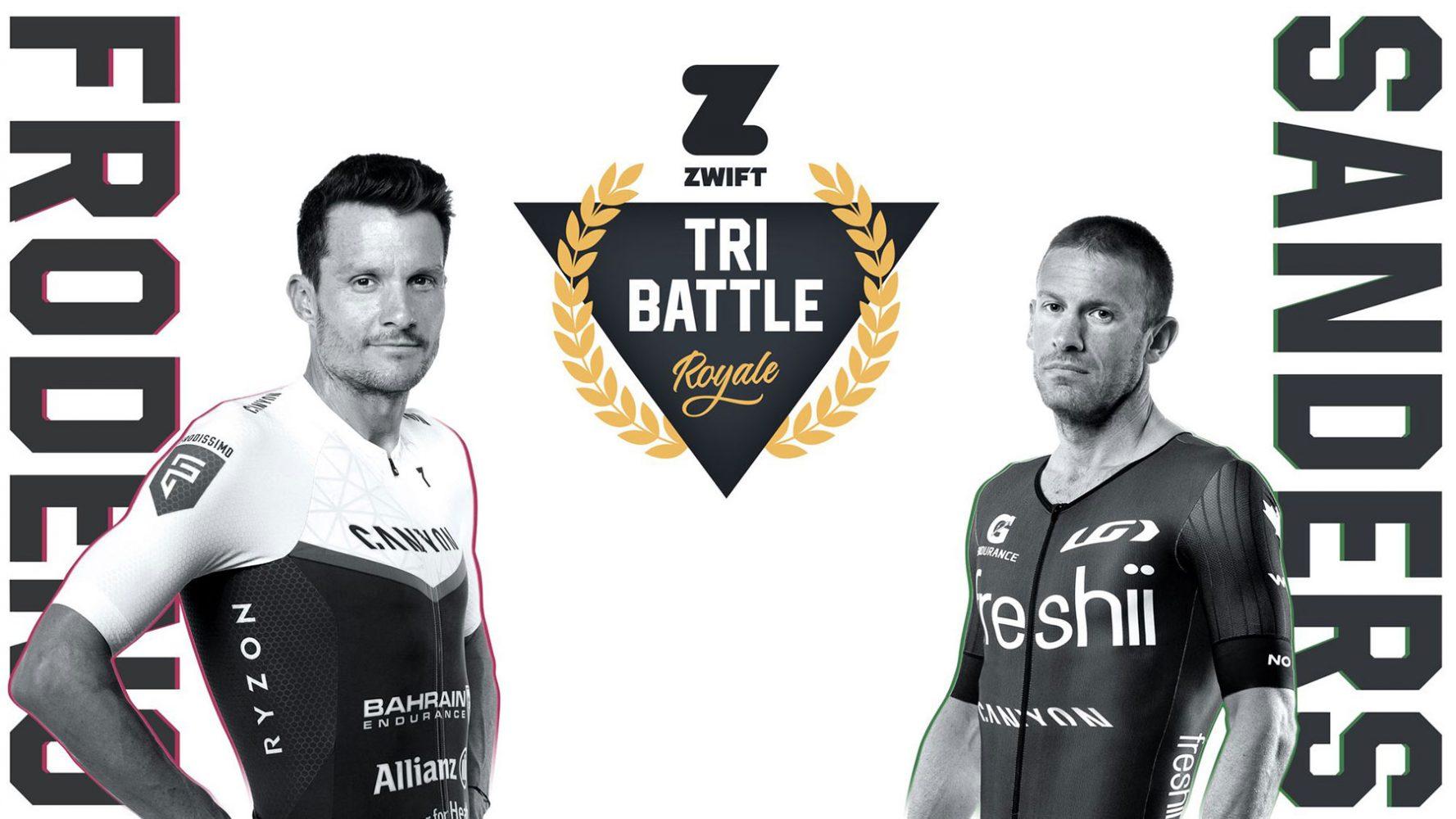 Zwift Tri Battle Royale - Frodeno vs Sanders