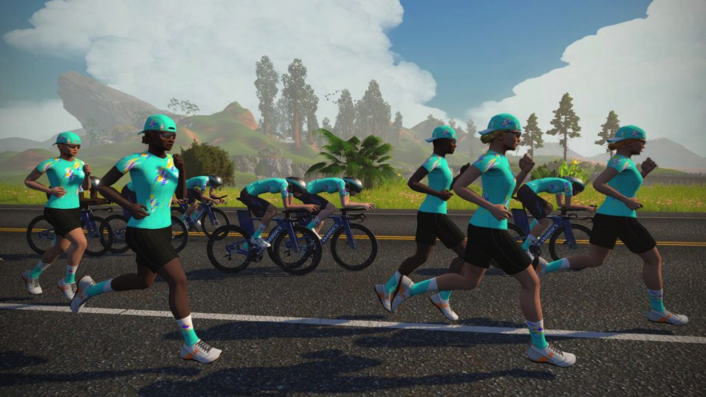 Zwift Academy Tri 2021 Running and Cycling